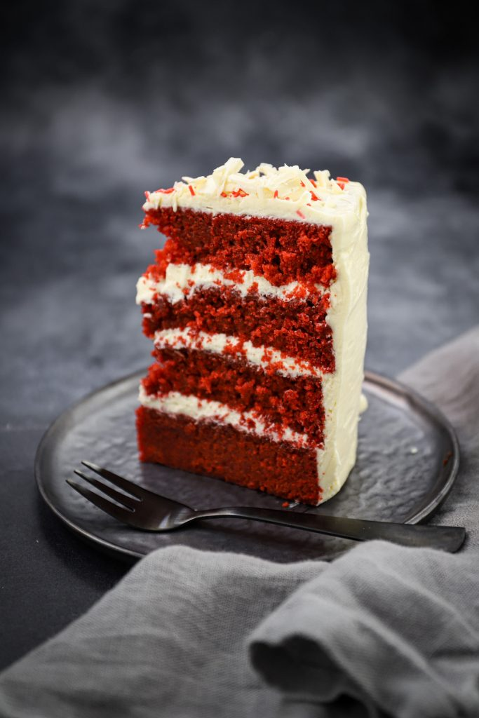 Puntje cake rood