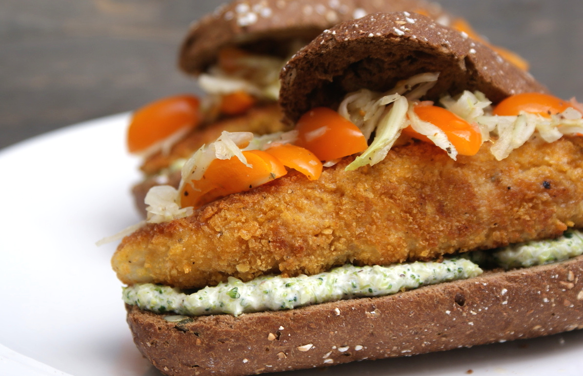 Crispy visburger EEFSFOOD