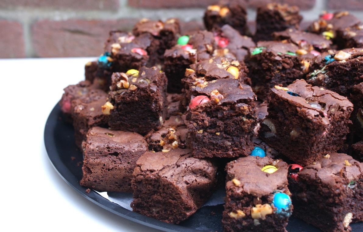 Walnoot M&M brownies EEFSFOOD