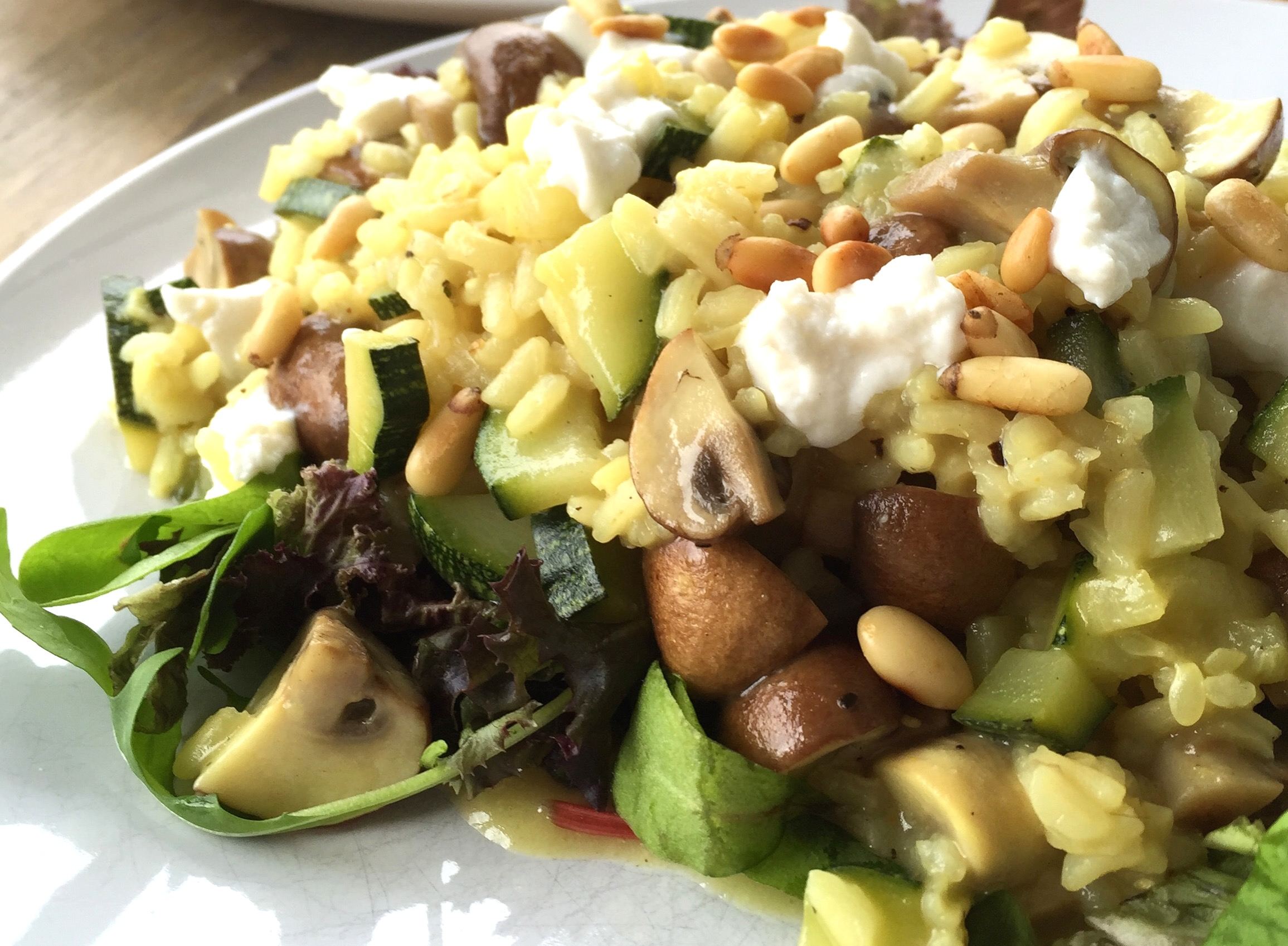 Risotto met courgette, champignons & geitenkaas