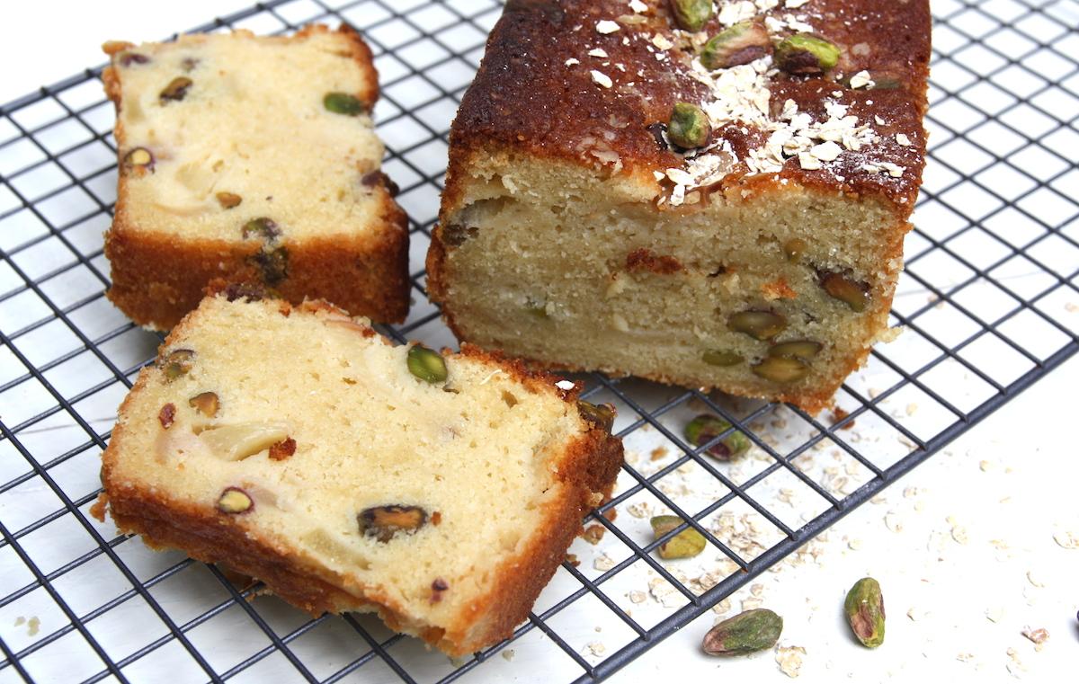 Perzik-pistache cake EEFSFOOD