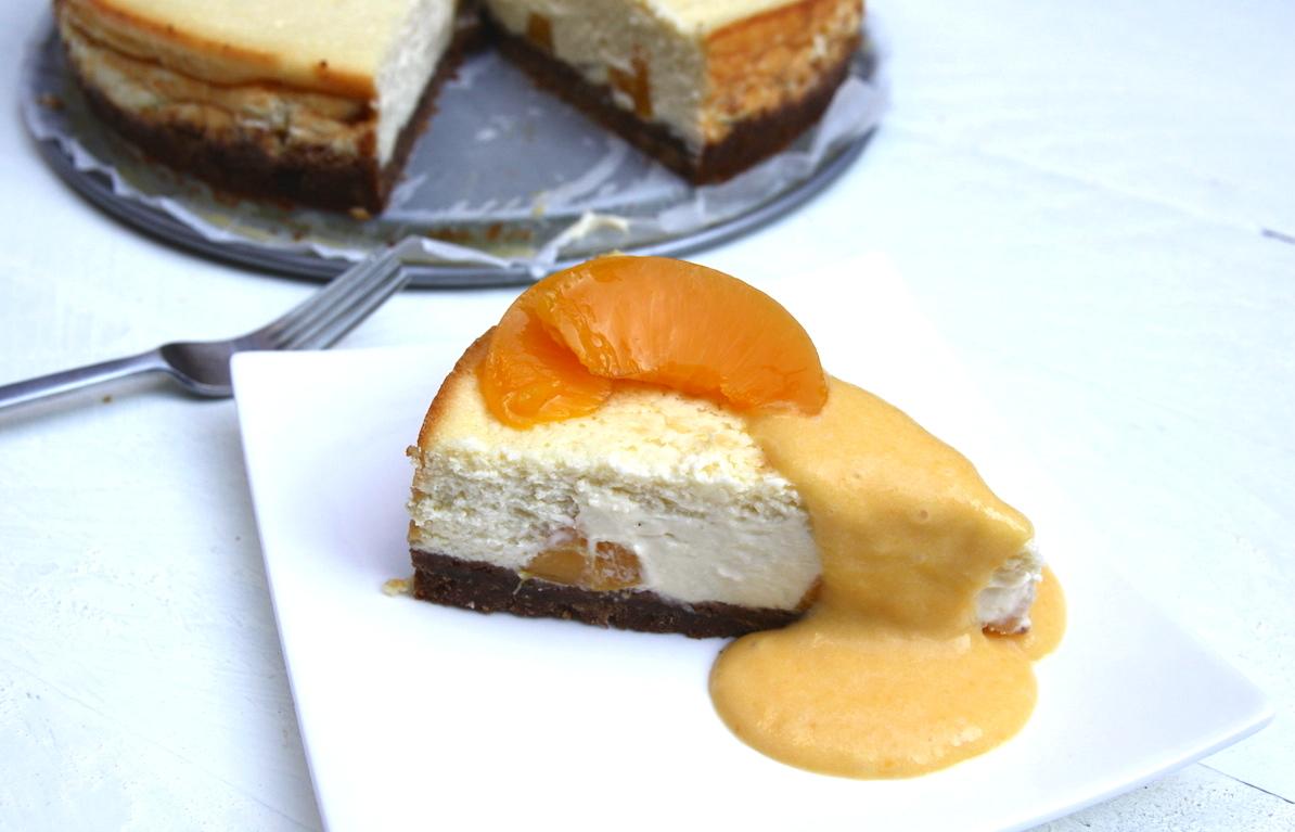 Perzik-limoen cheesecake EEFSFOOD