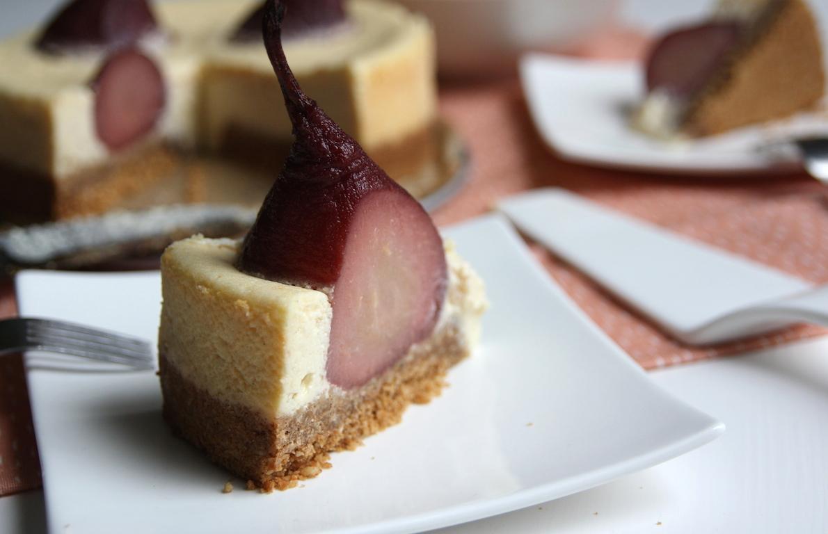 Stoofpeertjes cheesecake EEFSFOOD
