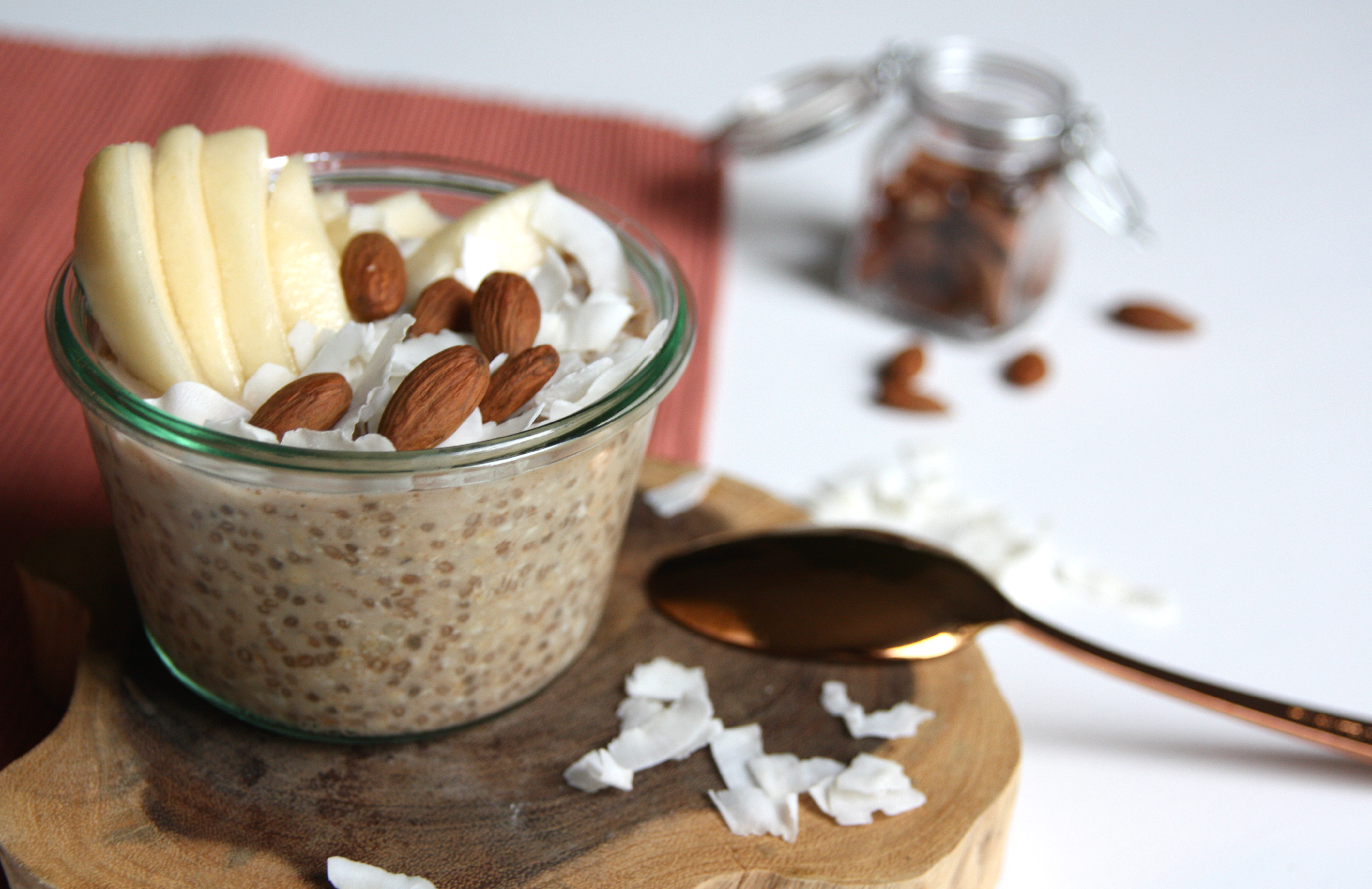 Overnight oats met peer en kaneel EEFSFOOD