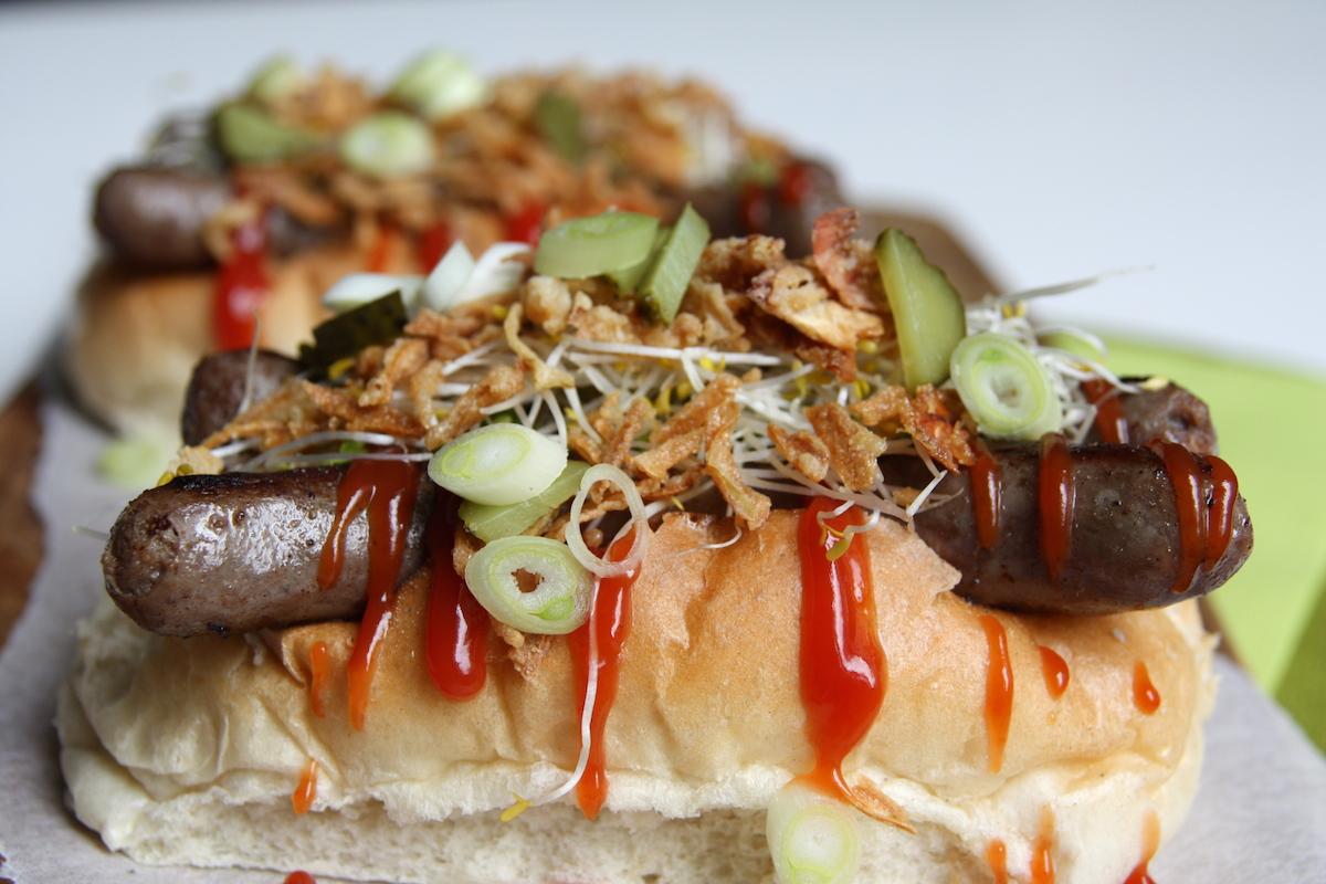 Dubbele hotdogs close up EEFSFOOD