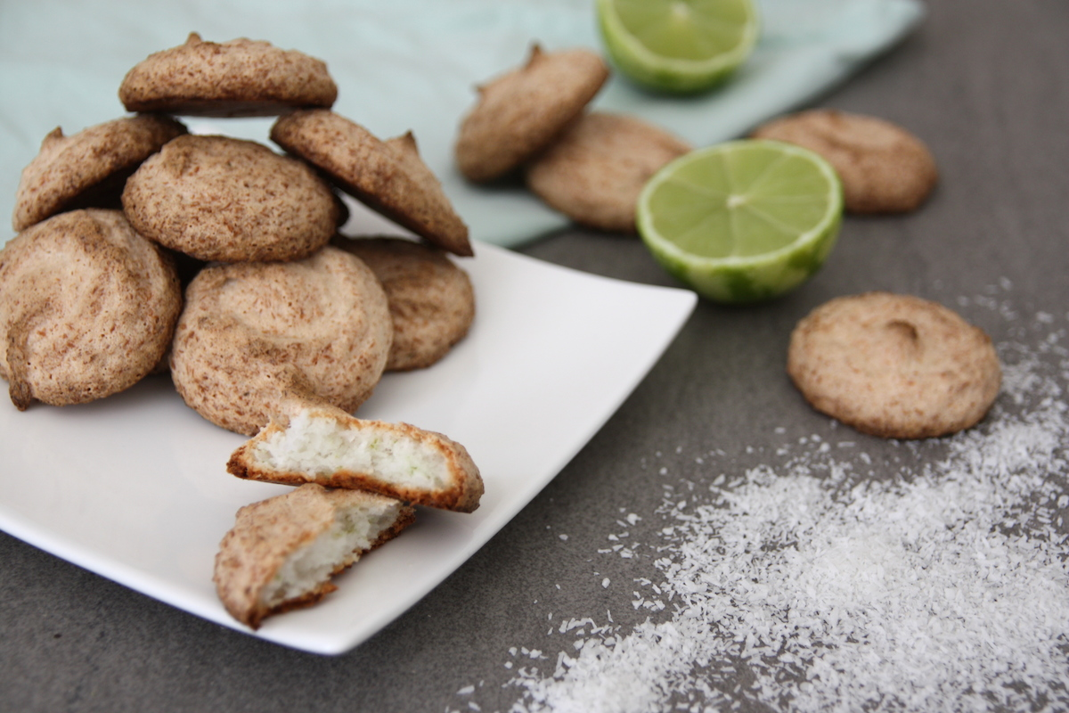Luchtige kokos-limoen koekjes