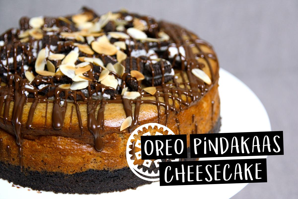 Oreo pindakaas cheesecake
