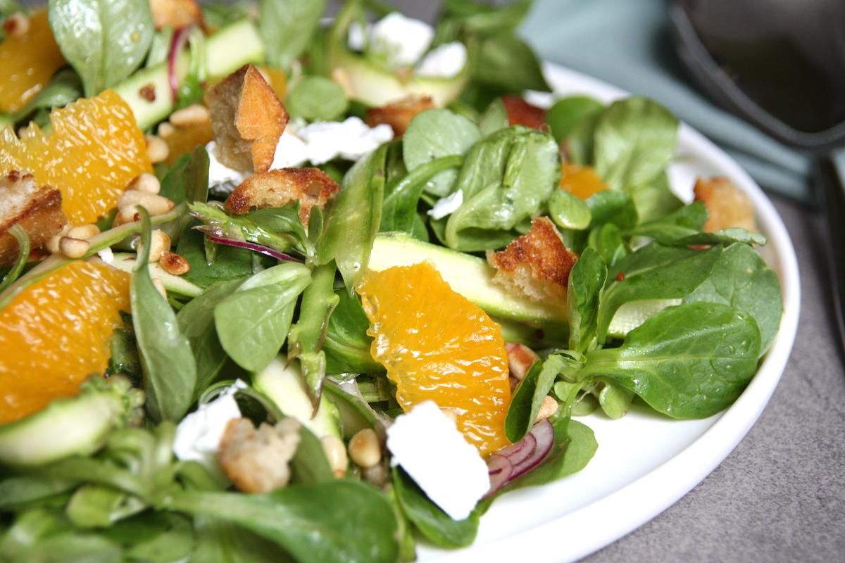 Asperge salade close up EEFSFOOD