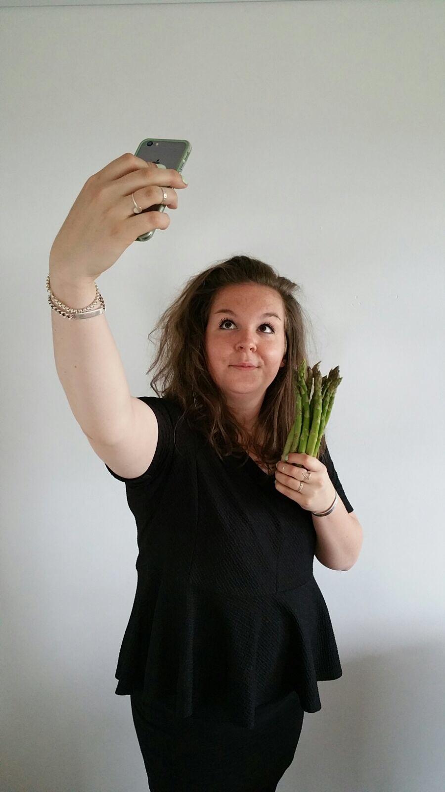 asperge selfie EEFSFOOD