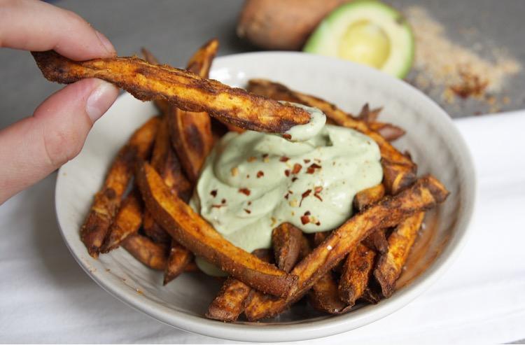 Zoete aardappel friet dip EEFSFOOD