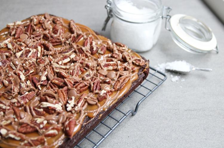 Pecan brownie geheel EEFSFOOD