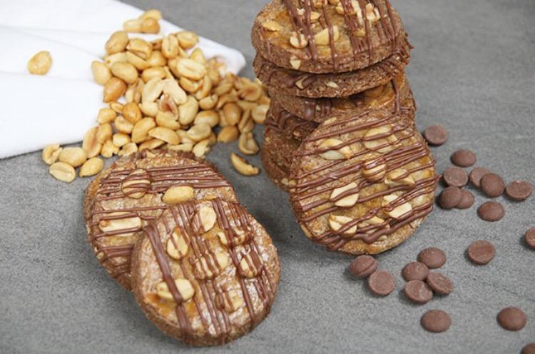 Pindakoeken met melkchocolade