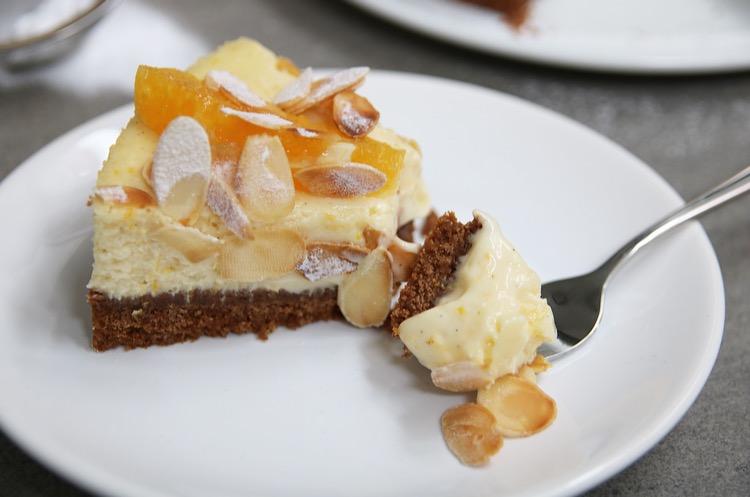 Sinaasappel cheesecake puntje EEFSFOOD