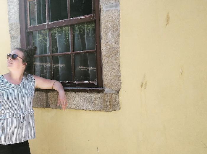 Geel muurtje Porto