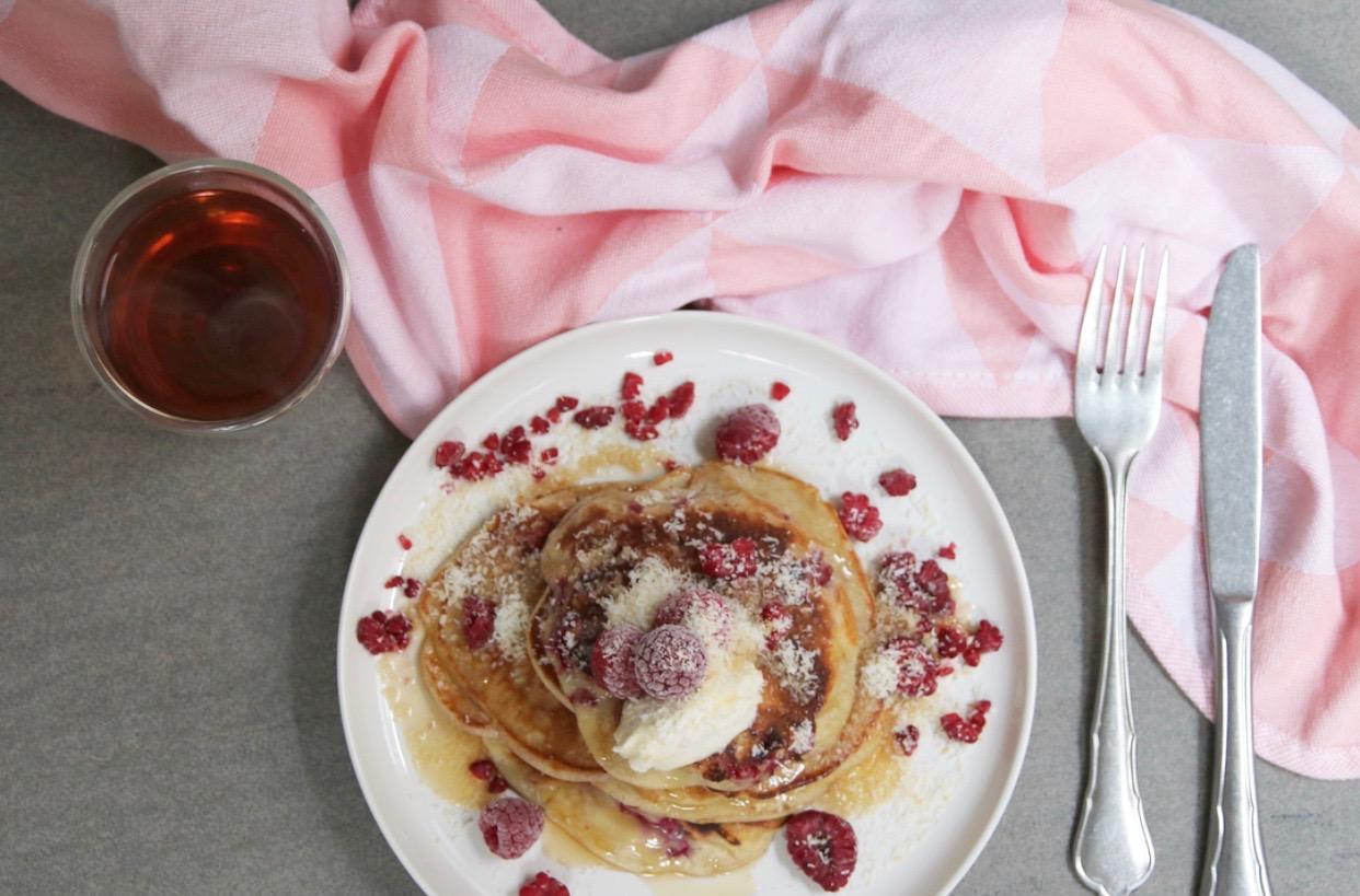 Mascarpone pancakes bovenaf