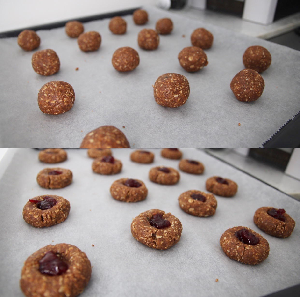 Pinda koekje making