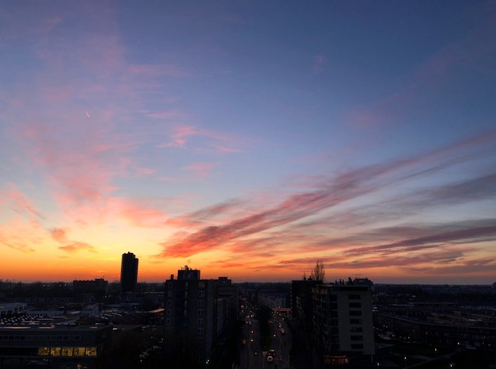 Zonsondergang Leiden