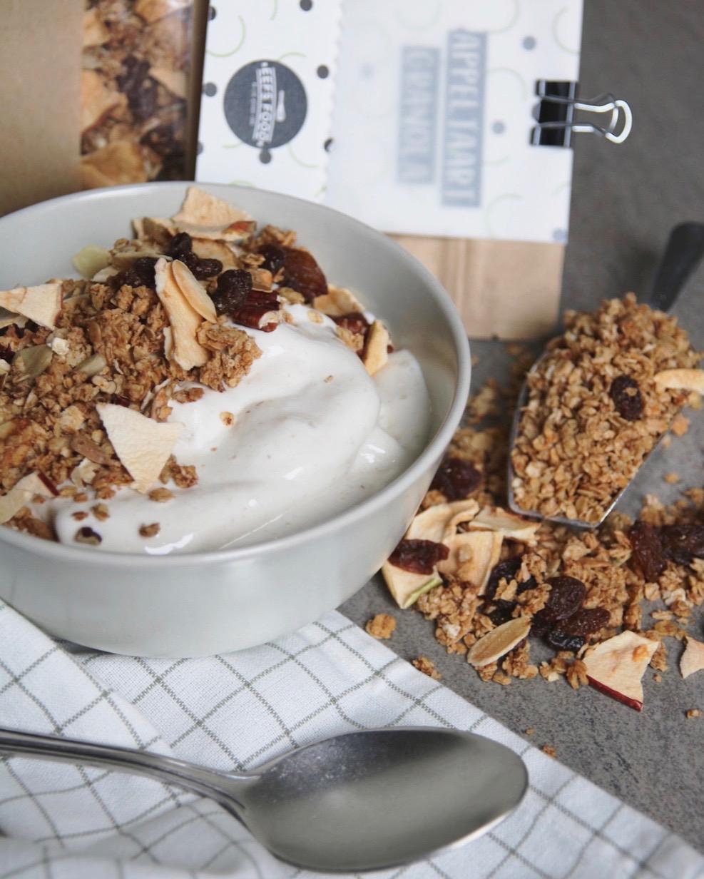 Zelf maken: appeltaart granola met pecannoten