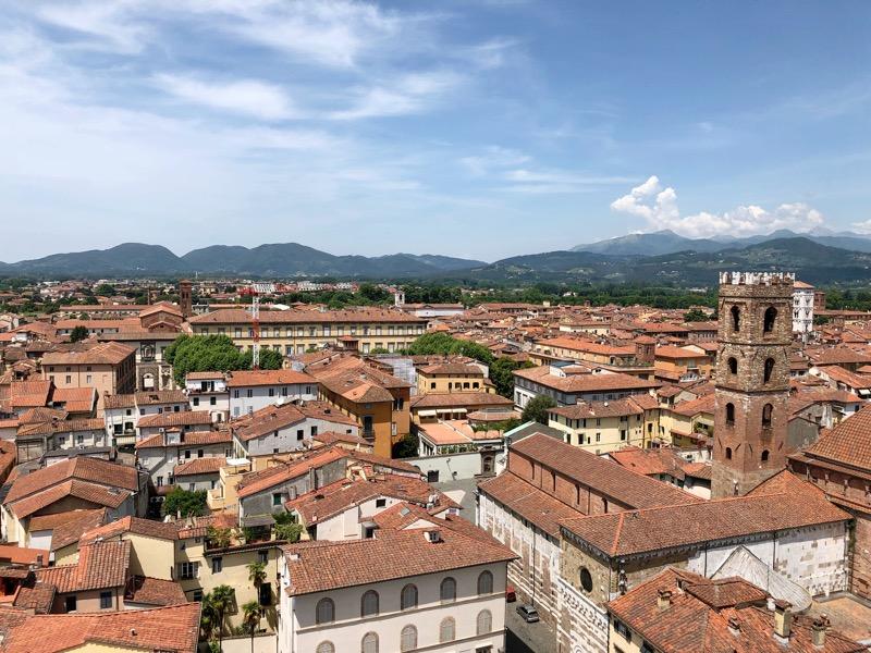 Uitzicht toren Lucca