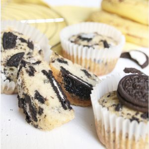 Bananen muffins met Oreo's