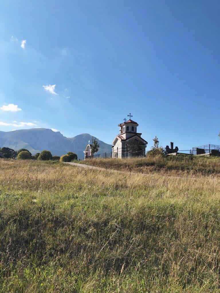 Kerkje bij het meer Montenegro