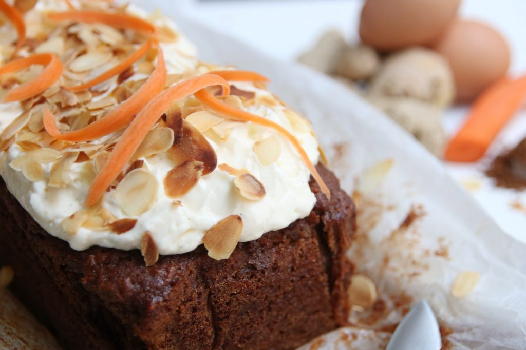 Close up carrotcake gember