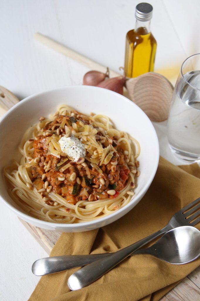 Groenten pasta hori