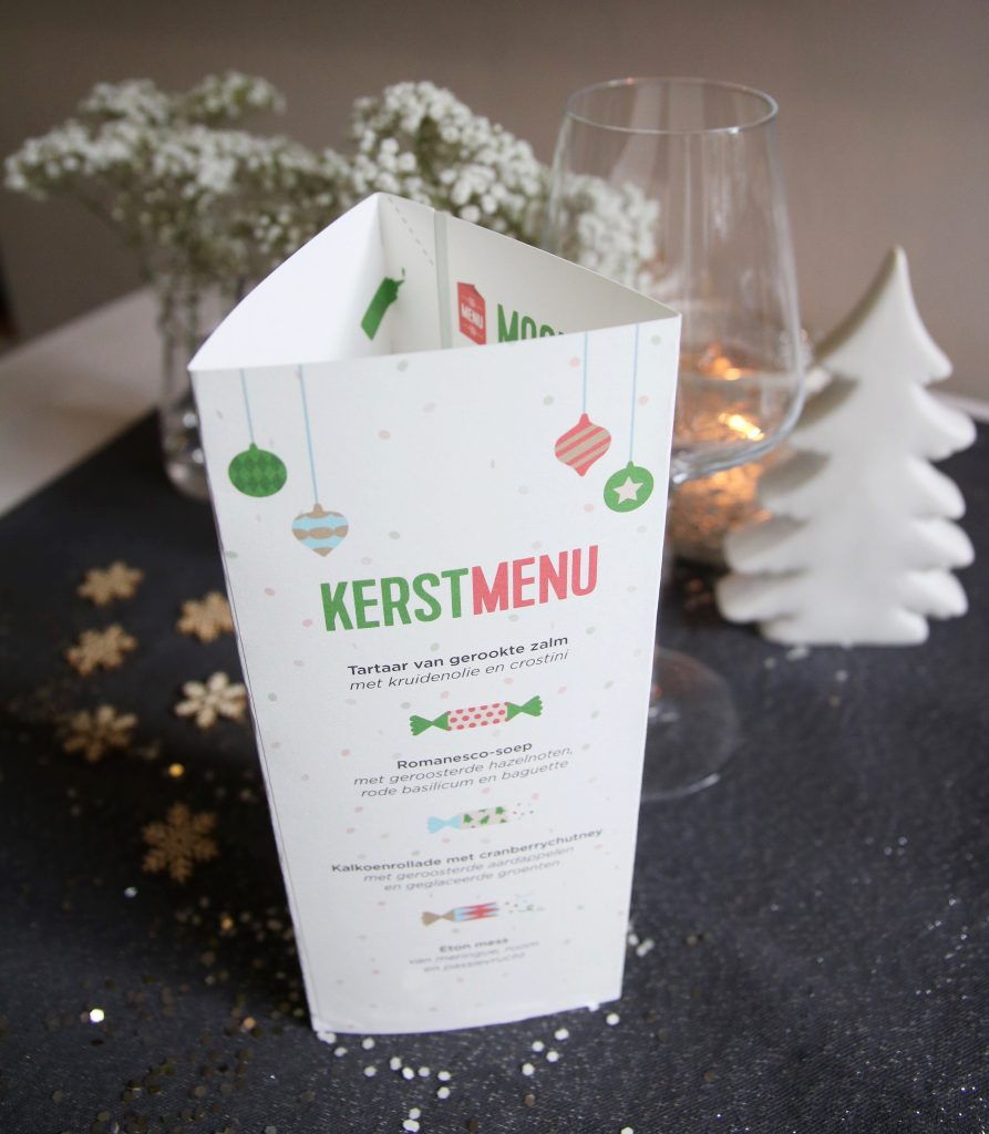 Kerstmenu kaart HelloFresh