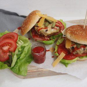 Classic cheeseburger met zelfgedraaid gehakt
