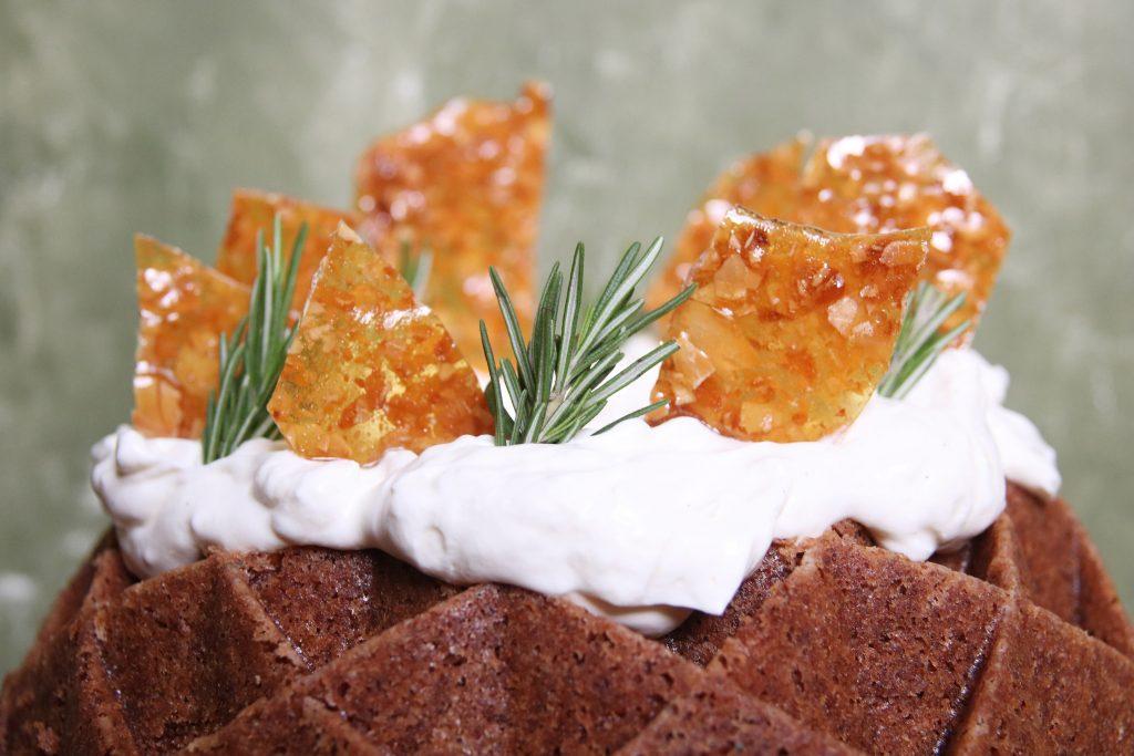 Mokka cake close up