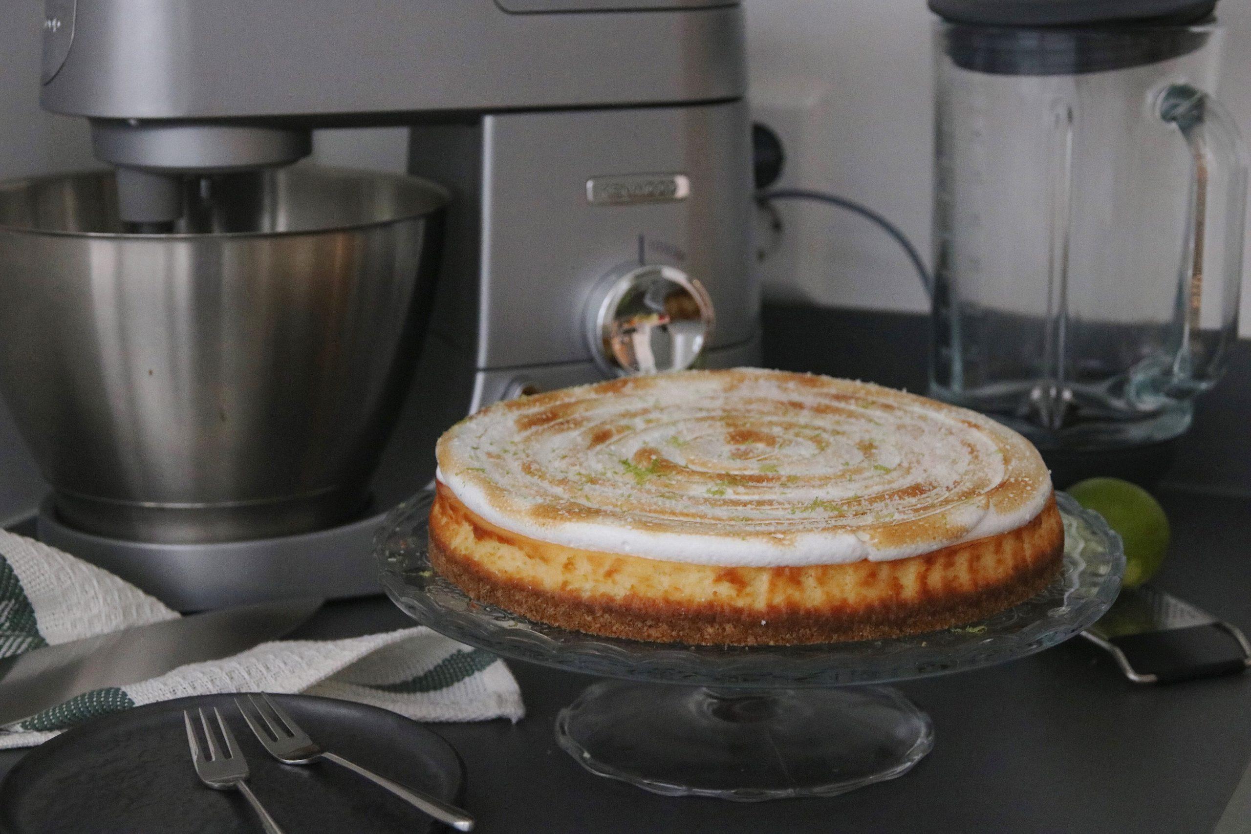 Frisse kokos-limoencheesecake met meringue