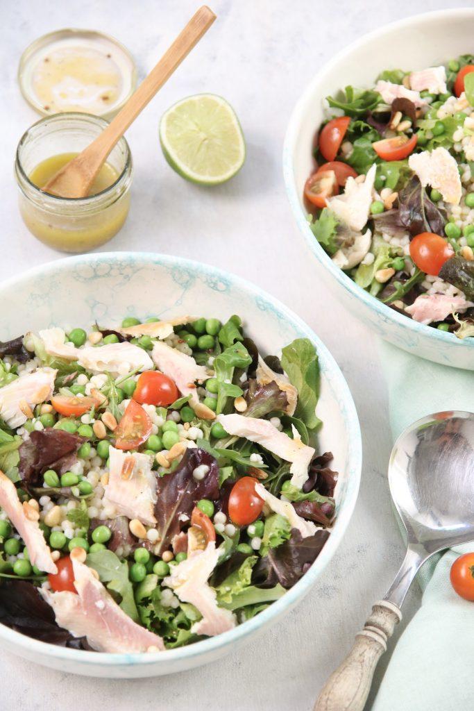 Parelcouscous salade verticaal