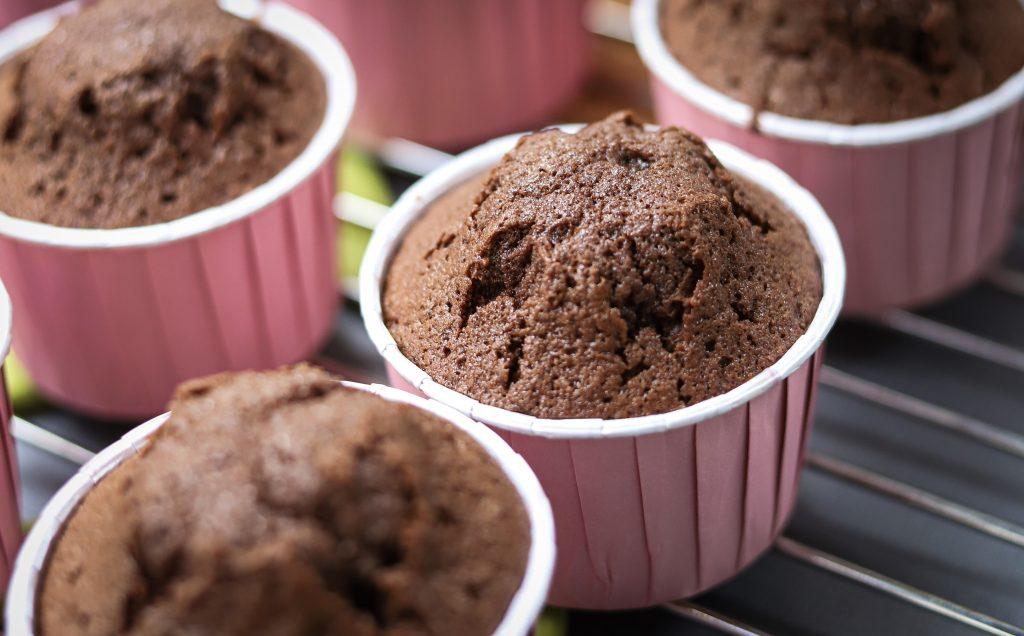 Close up chocolade cakejes