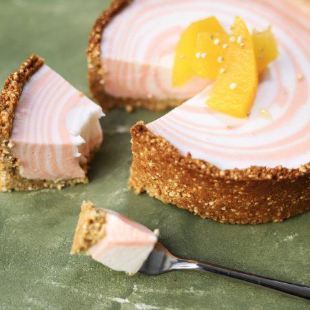 Glutenvrij kokosyoghurt taartje met sinaasappel