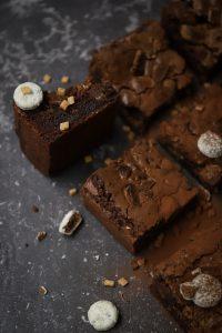 Brownies close up zijkant
