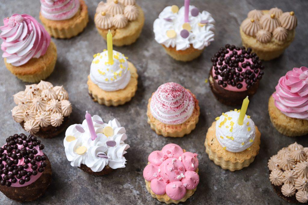 Cupcakes schuin vooraf