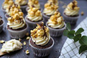 Chocolade popcorn cupcakes