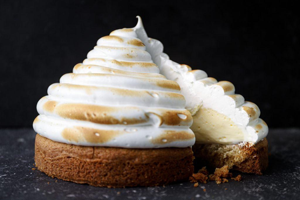 Lemon meringue room taart
