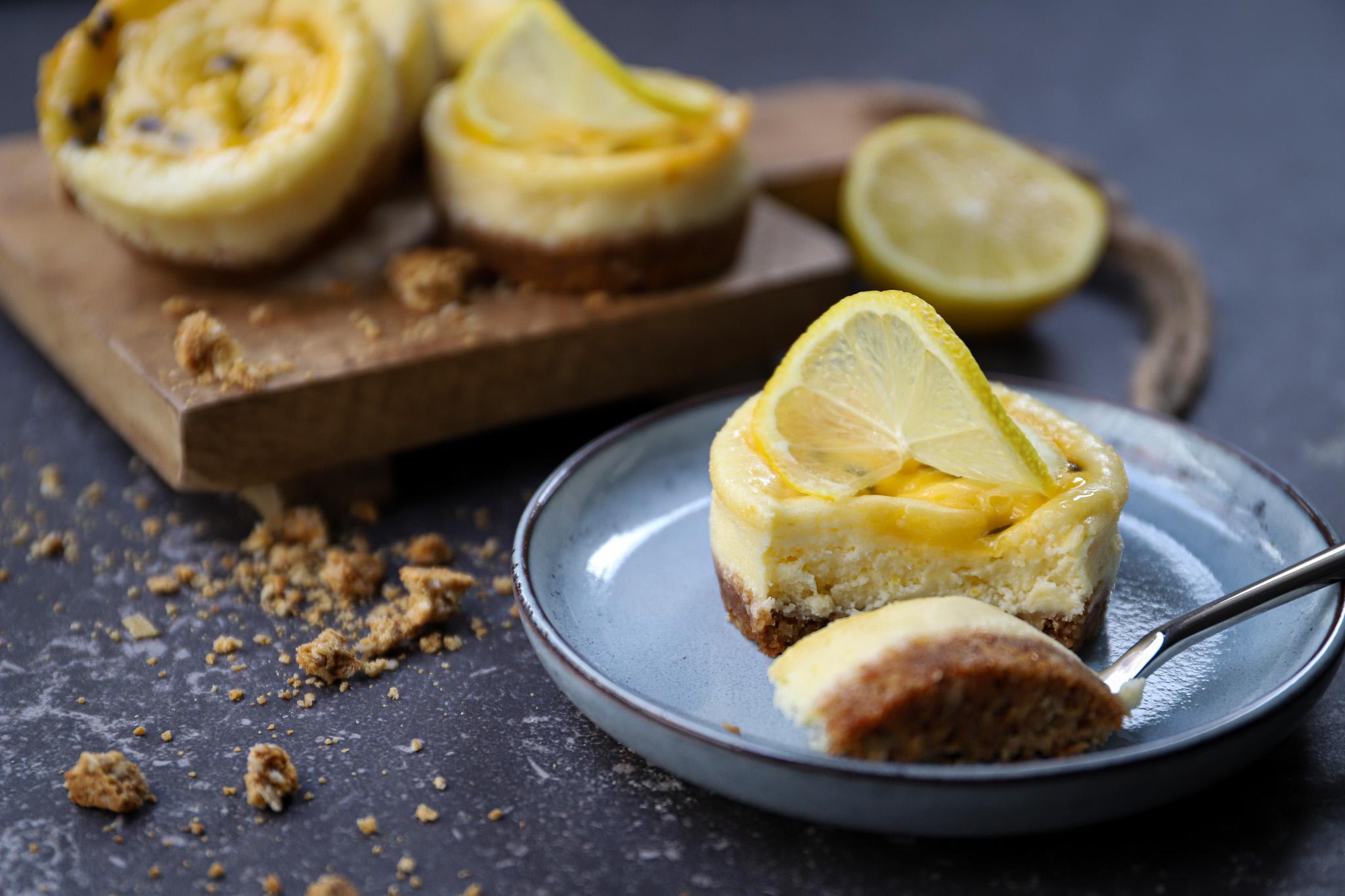 Citroen-passievrucht cheesecake