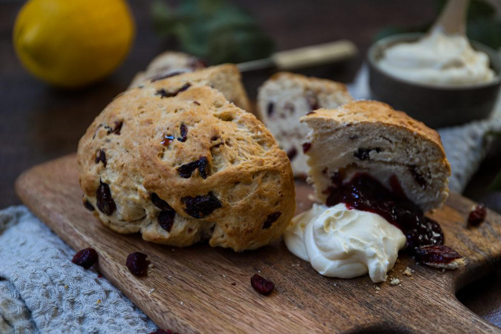 Close up reuze scone