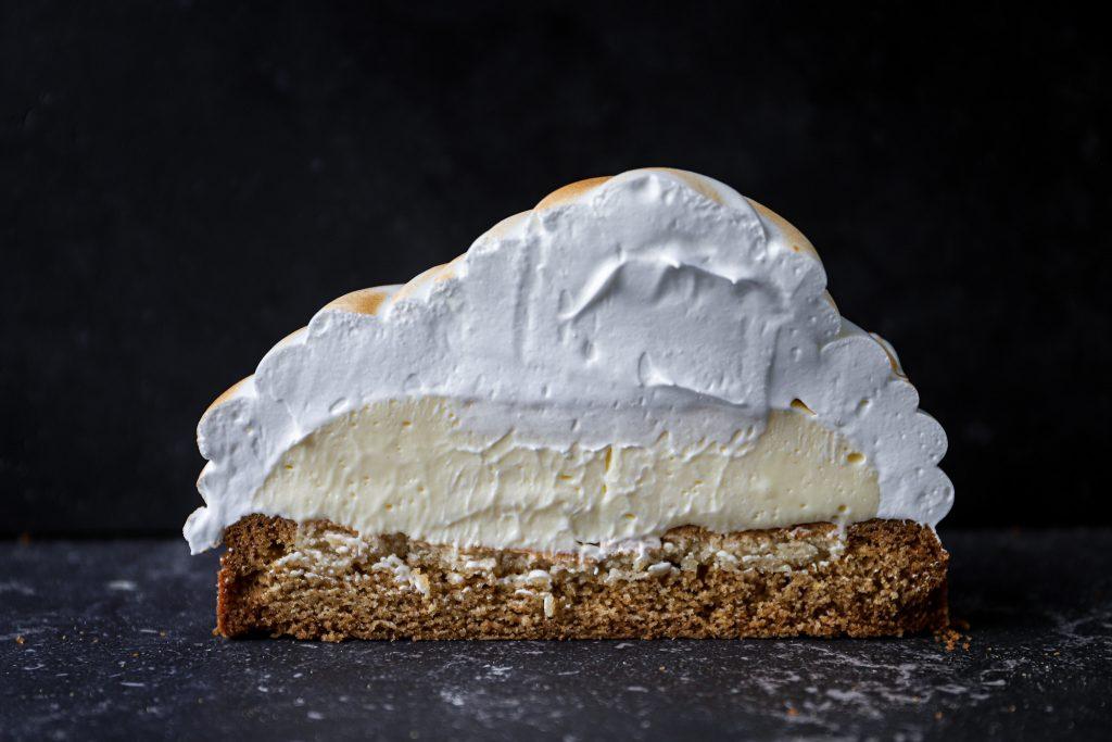 Binnenkant merengue taart