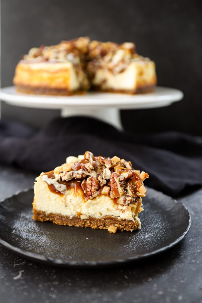 Puntje karamel cheesecake
