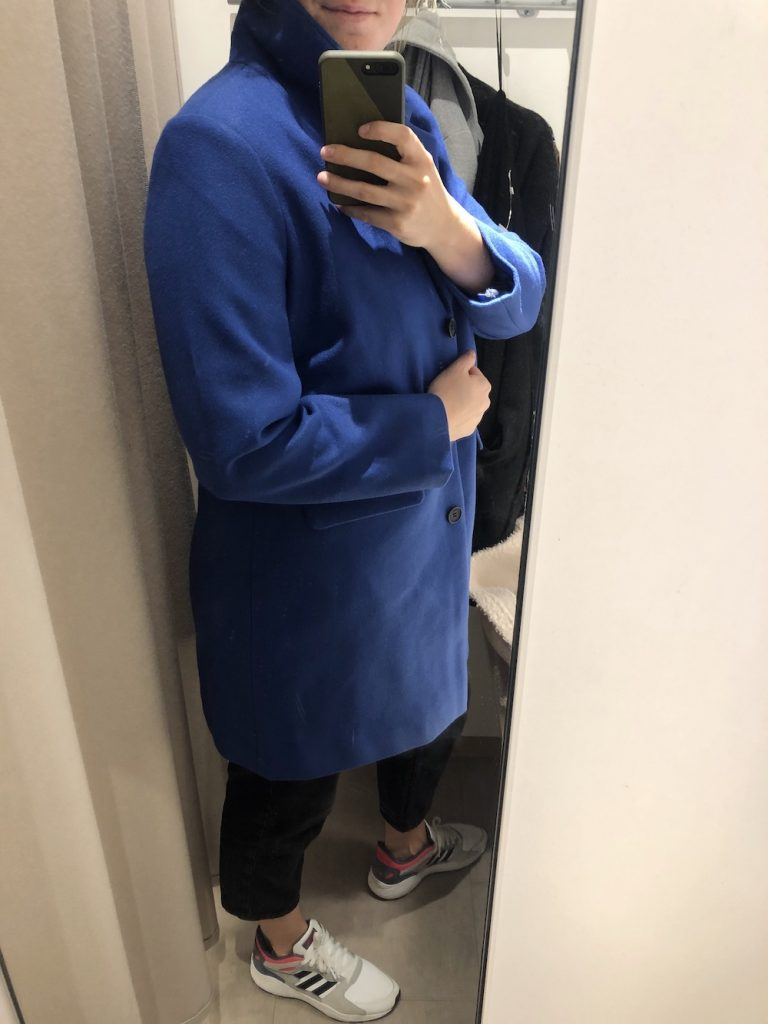 Blauwe Hema jas