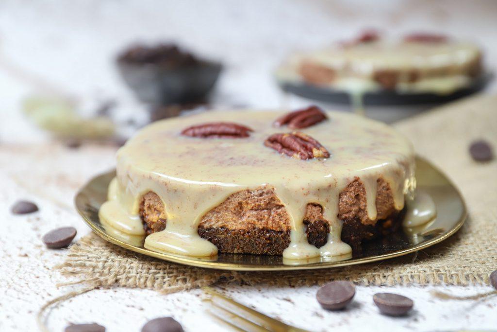 Chocolademousse-koffie taartjes met Kahlúa heel