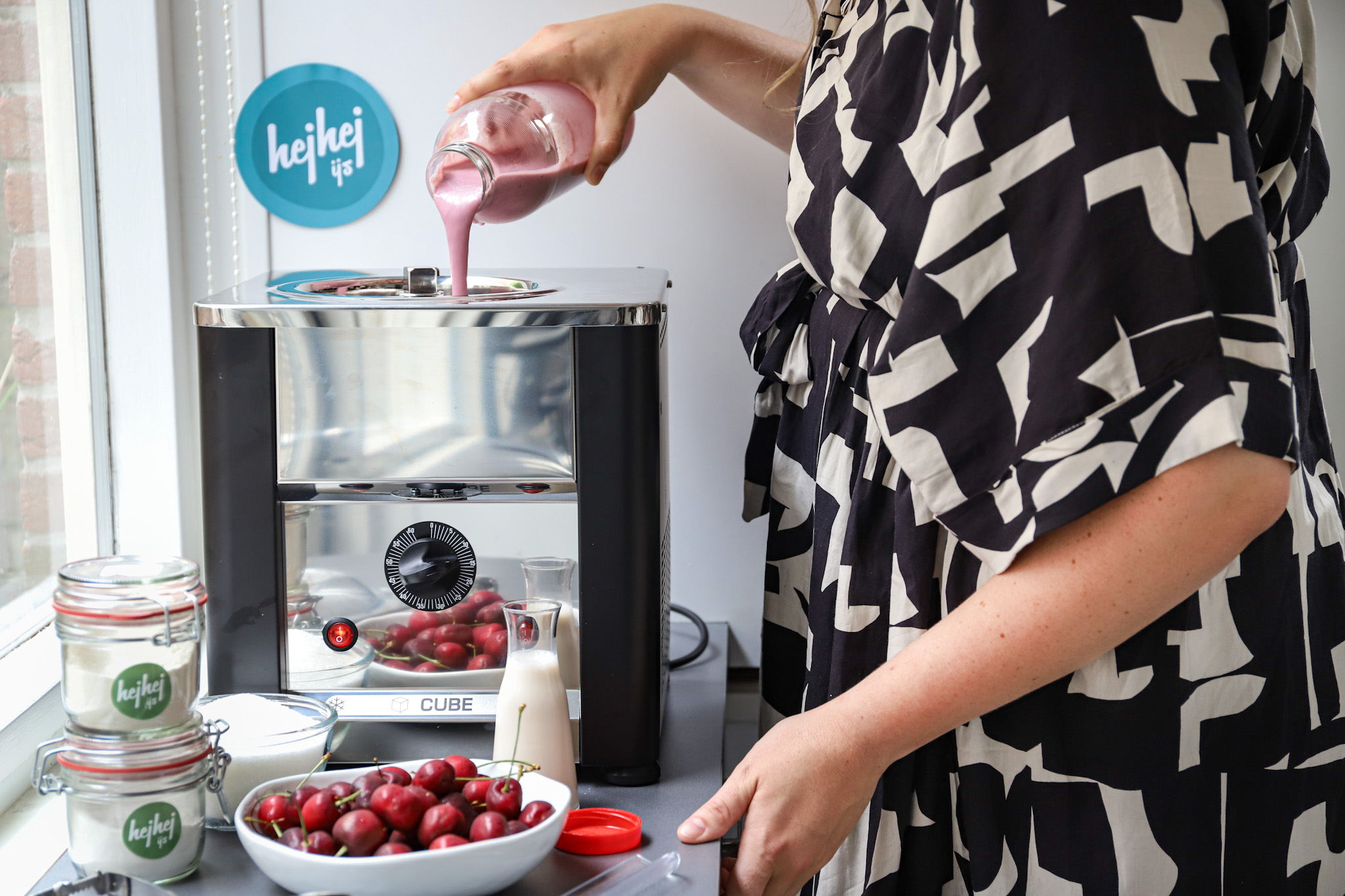 Mijn ervaringen met de CUBE ijsmachine | hejhej ijs + recept