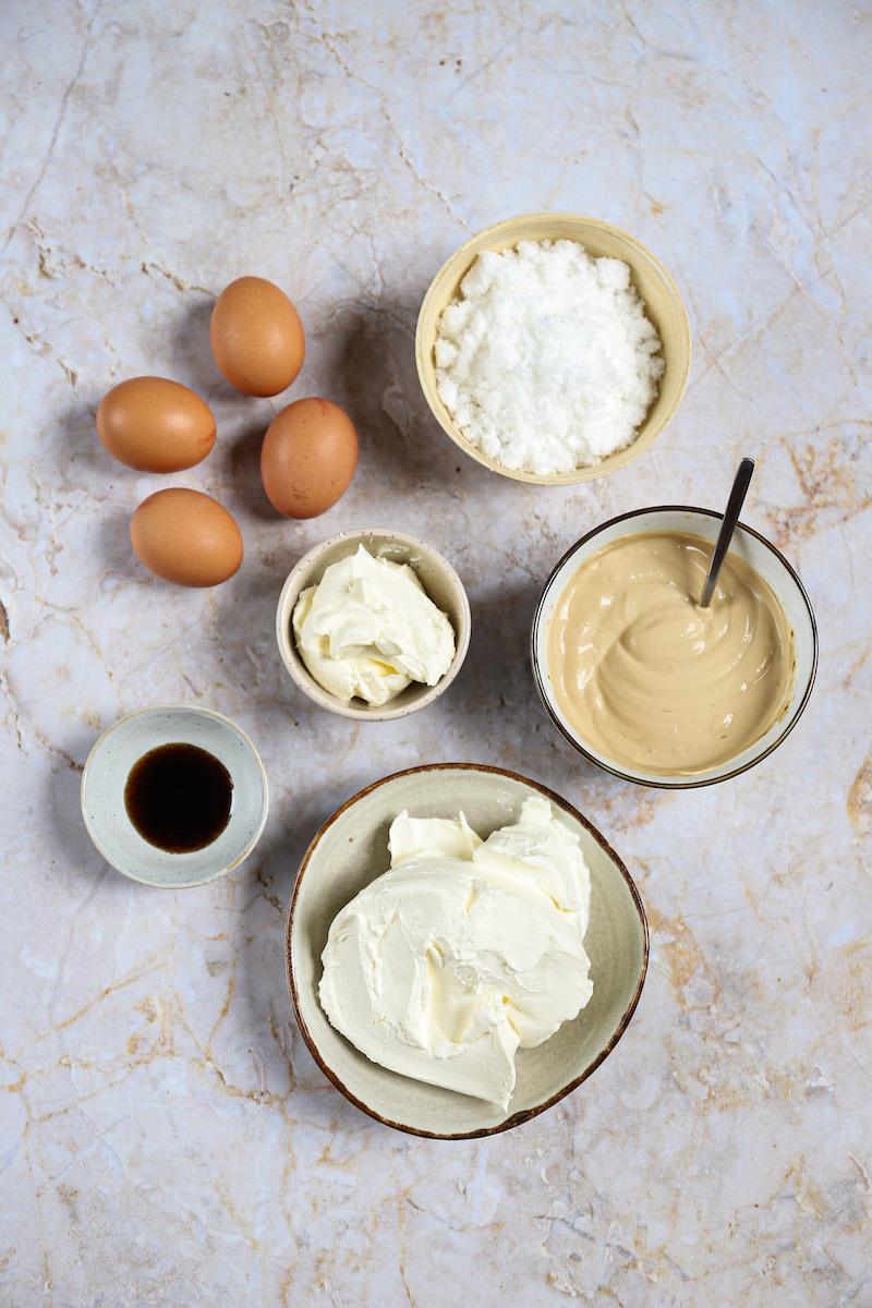 ingrediënten cheesecake