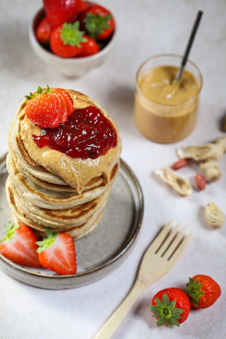Peanutbutter jelly pancakes